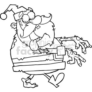 royalty-free 5085-santa-zombie-walking-with-hands-in-front