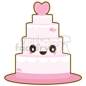 cartoon picture of a wedding cake clip characters and more related vector 12418