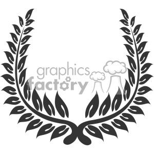 branch wreath design vector art v3