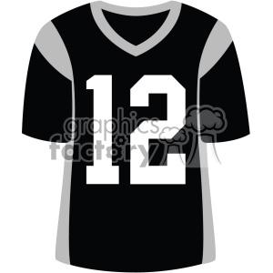 black football jersey vector svg cut files art