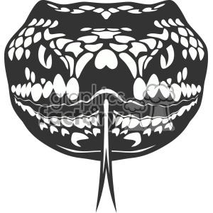 snake head vector art