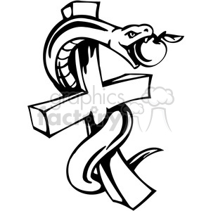 christian religion serpent on cross 083
