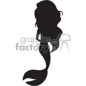 mermaid silhouete svg cut file 1