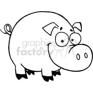 cartoon character happy pig
