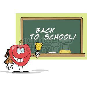apple ringing a bell chalkboard