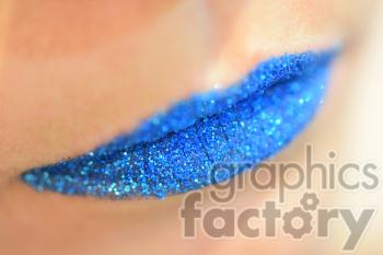 blue glitter lips