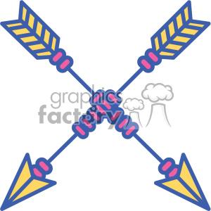 colored crossed arrow vector design 09