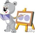Teddy bear teaching school class