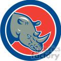 rhino side head in circle shape  gif, png, jpg, eps, svg, pdf