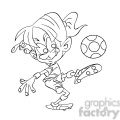 black and white image of female kid playing soccer futbol femenino negro  gif, png, jpg, eps, svg, pdf