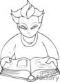 people books book school education man men   pple060_bw clip art people  gif