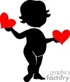 girl holding hearts gif, jpg