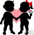 shadow people silhouette love flowers realationship   people-067 clip art people shadow people  gif, jpg