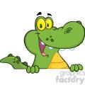 102532-cartoon-clipart-aligator-or-crocodile-over-a-sign  gif, png, jpg, eps, svg, pdf