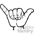 sign language letter Y