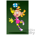 image of girl playing soccer portera de futbol  gif, png, jpg, eps, svg, pdf