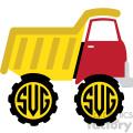 dump truck monogram svg cut file