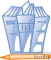 business office supplies work book books document documents pencil pencils folder folders file files   bc_041 clip art business supplies  gif, eps