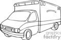 medical ambulance ambulances vehicle emergancy emt   helth001_bw clip art medical  gif