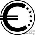 vector clip art vinyl-ready cutter black white money currency euro symbol symbols gif, png, jpg, eps