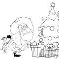 Dog-Biting-A-Santa-Claus-Under-A-Christmas-Tree