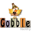 Gobble Word Blocks w Turkey