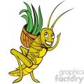 grasshopper carrying a basket  gif, png, jpg, eps, svg, pdf