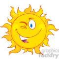 royalty free rf clipart illustration winked sun cartoon mascot character  gif, png, jpg, eps, svg, pdf