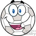 royalty free rf clipart illustration happy soccer ball cartoon character  gif, png, jpg, eps, svg, pdf