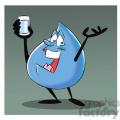 aqua the cartoon water drop drinking water  gif, png, jpg, eps, svg, pdf