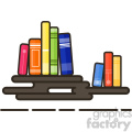 books flat vector icon design  gif, png, jpg, eps, svg, pdf