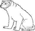 bear bears   anml068_bw clip art animals  gif