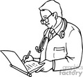 medical doctor doctors chart charts writing checkup   helth005 clip art medical  gif, jpg