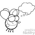 cartoon-fly-black-white