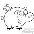 royalty-free-rf-copyright-safe-pig-flying-cartoon-character  gif, png, jpg, eps, svg, pdf