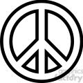 peace symbol outline