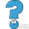 6264 royalty free clip art blue question mark cartoon character thinking  gif, png, jpg, eps, svg, pdf