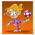 image of female kid playing soccer futbol femenino  gif, png, jpg, eps, svg, pdf