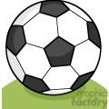 royalty free rf clipart illustration soccer ball on grass  gif, png, jpg, eps, svg, pdf