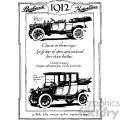 1912 vintage car ad vintage 1900 vector art gf  gif, png, jpg, eps, svg, pdf