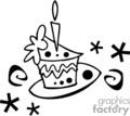 birthdays birthday anniversaries party cake cakes   spel078_bw clip art holidays anniversaries  gif