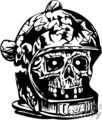 zombie astronaut skull gif, jpg, eps