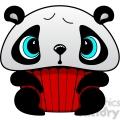 cupcake panda bear in color  gif, png, jpg, eps, svg, pdf