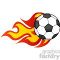 royalty free rf clipart illustration flaming soccer ball gif, png, jpg, eps, svg, pdf