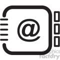 address book vector icon  gif, png, jpg, svg, pdf