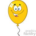 10746 royalty free rf clipart smiling yellow balloon cartoon mascot character vector illustration  gif, png, jpg, eps, svg, pdf