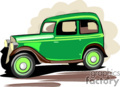 antique green car