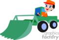 heavy equipment construction truck trucks tractors tractor front loader   transport_04_080 clip art transportation land  gif