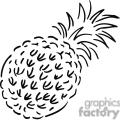 pineapple outline