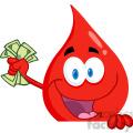 blood-drop-holding-money  gif, png, jpg, eps, svg, pdf